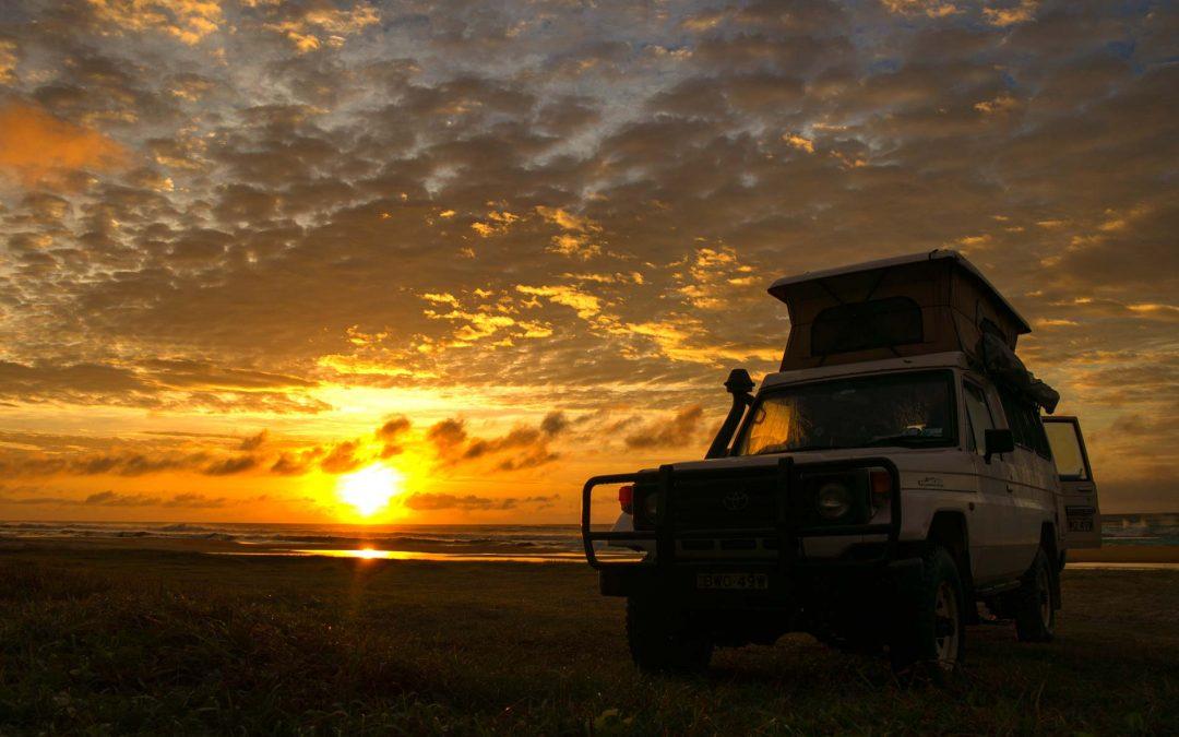 Fraser Island beach camping